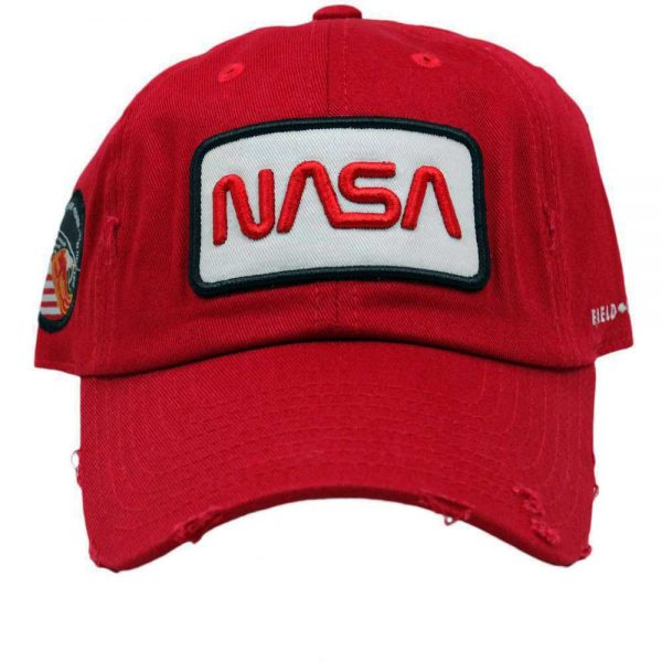 RED DISTRESSED DAD HAT